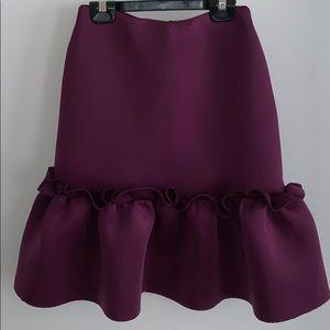 Asos knee length scuba peplum skirt